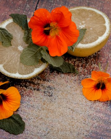 lemon and peppermint cordial