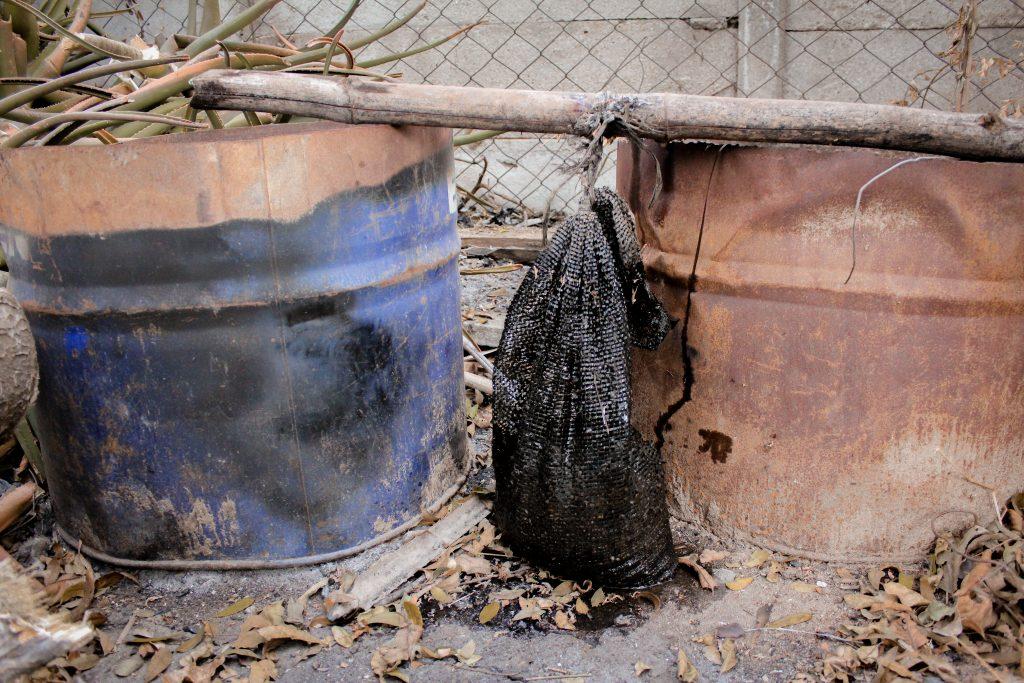 sack of chicken poop