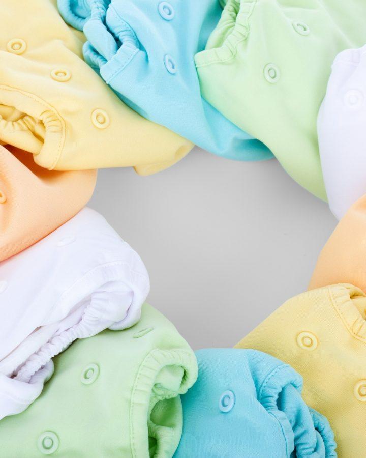 rainbow cloth nappies